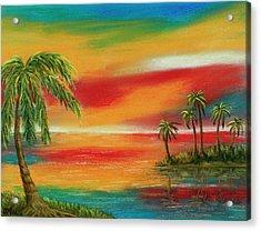 Colorful Paradise Acrylic Print by Anastasiya Malakhova