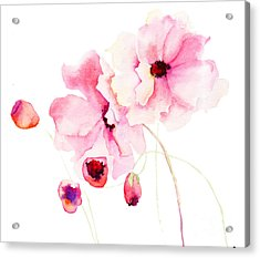 Colorful Pink Flowers Acrylic Print