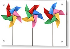 Colorful Pinwheels Isolated Acrylic Print