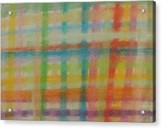 Acrylic Print featuring the drawing Colorful Plaid by Thomasina Durkay