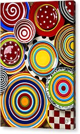 Colorful Plates Acrylic Print by Garry Gay