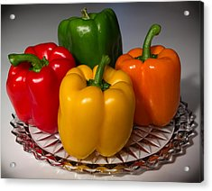 Colorful Platter Acrylic Print by Shane Bechler