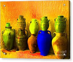 Colorful Pottery Acrylic Print