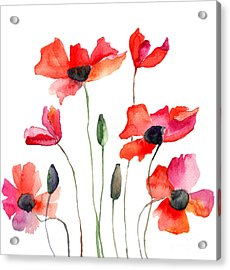 Colorful Red Flowers Acrylic Print