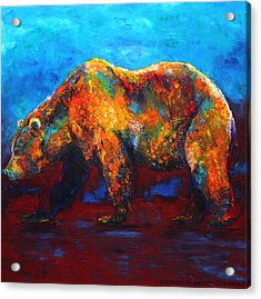 Colorful Reflections Bear Painting Acrylic Print