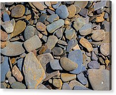 Colorful River Rocks Acrylic Print by Photographic Arts And Design Studio