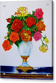Colorful Roses Acrylic Print