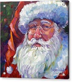 Colorful Santa Acrylic Print