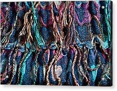 Colorful Scarf Acrylic Print by Tom Gowanlock