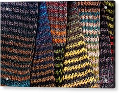 Acrylic Print featuring the photograph Colorful Scarves by Les Palenik
