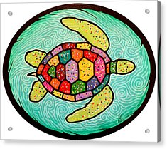 Colorful Sea Turtle Acrylic Print