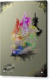 Colorful Ships Acrylic Print by Eugene Foltuz