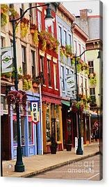 Colorful Shops Acrylic Print by Jennifer Kelly