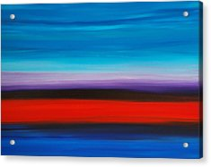 Colorful Shore - Abstract Art By Sharon Cummings Acrylic Print by Sharon Cummings