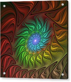 Colorful Spiral Acrylic Print by Gabiw Art