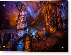 Colorful Stalactite Cave Acrylic Print