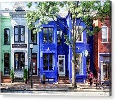Alexandria Va - Colorful Street Acrylic Print
