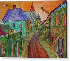 Colorful Street Acrylic Print by Oscar Penalber