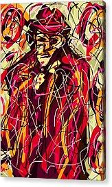 Colorful Suit Acrylic Print by Rachel Scott