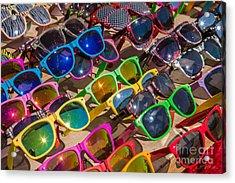 Colorful Sunglasses Acrylic Print by Iris Richardson