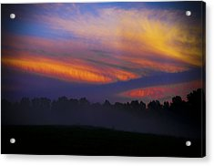 Colorful Sunset Acrylic Print by Debra Crank