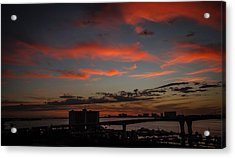 Acrylic Print featuring the photograph Colorful Sunset by Jane Luxton