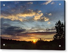 Colorful Sunset Landscape Acrylic Print by Christina Rollo