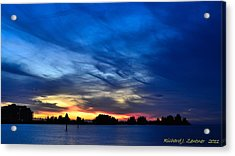 Colorful Sunset Acrylic Print by Richard Zentner