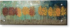 Colorful Trees Acrylic Print