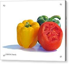 Colorful Trio Acrylic Print