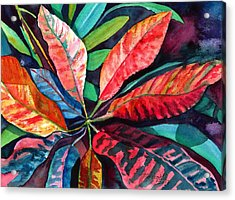 Colorful Tropical Leaves 2 Acrylic Print