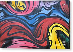 Acrylic Print featuring the photograph Colorful Urban Street Art From Singapore by Imran Ahmed