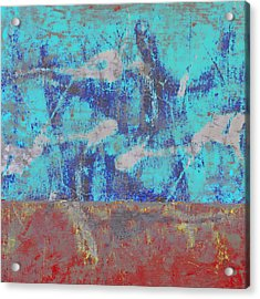 Colorful Walls Square Number 1 Acrylic Print