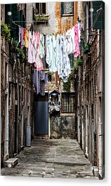 Colorful Washings In Venice Acrylic Print