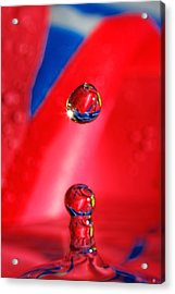 Acrylic Print featuring the photograph Colorful Water Drop by Peter Lakomy