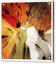 Colorful Woolen Socks Acrylic Print