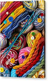 Colorful World Of Art And Craft Acrylic Print
