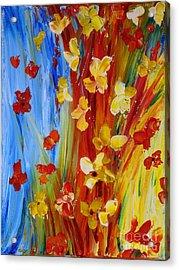Colorful World Acrylic Print by Teresa Wegrzyn