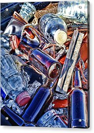 Colorfull Junk Acrylic Print by Udo Dussling