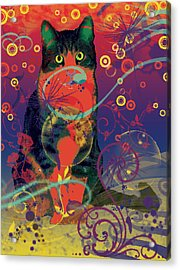 Colorfur Cat Acrylic Print