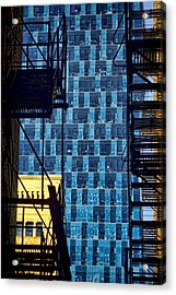 Colors And Architecture From The Alley Acrylic Print by Sven Brogren