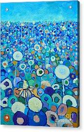 Colors Field In My Dream Acrylic Print by Ana Maria Edulescu
