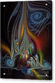 Colors In Motion-fractal Art Acrylic Print by Karin Kuhlmann