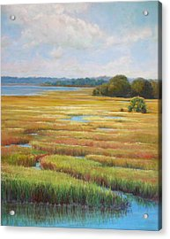 Acrylic Print featuring the painting Colors In The Marsh by Pam Talley