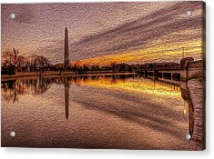 Colors In The Morning Acrylic Print by David Hahn
