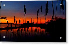 Colors In The Sky Acrylic Print by Stephen Melcher
