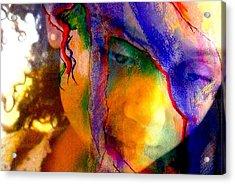 The Mask Acrylic Print by Jodie Marie Anne Richardson Traugott          aka jm-ART