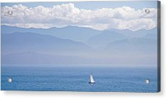 Colors Of Alaska - Sailboat And Blue Acrylic Print
