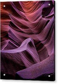 Colors Of Antelope Canyon Acrylic Print