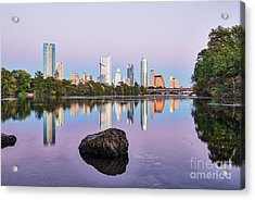 Colors Of Austin Skyline Acrylic Print by Tod and Cynthia Grubbs